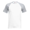 Fruit Of The Loom Baseball T pesäpallopaita-white-heather grey