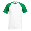 Fruit Of The Loom Baseball T pesäpallopaita-white-kelly green