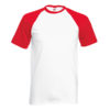 Fruit Of The Loom Baseball T pesäpallopaita-white-red