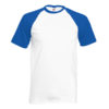 Fruit Of The Loom Baseball T pesäpallopaita-white-royal